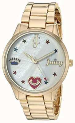 Juicy Couture 女式金色金色手镯表带彩色标记 JC-1016MPGB
