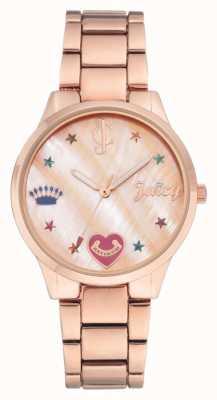 Juicy Couture 女式玫瑰金色手镯表带彩色标记 JC-1016RMRG