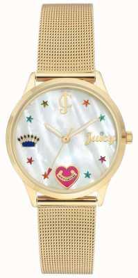 Juicy Couture 女士金网手链手表与彩色标记 JC-102WTGB