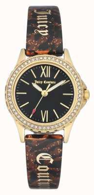 Juicy Couture 女装金色外壳|棕色手镯带|黑色案例 JC-1068BKBN