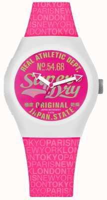 Superdry 都市天堂粉色表盘和表带 SYL249P