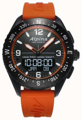 Alpina Alpinerx smartwatch橙色橡胶表带 AL-283LBO5AQ6