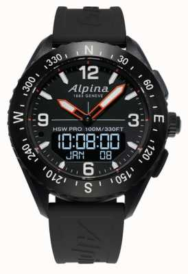 Alpina Alpinerx smartwatch黑色橡胶表带 AL-283LBB5AQ6
