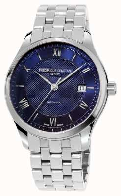 Frederique Constant 男士指数蓝色表盘不锈钢表链 FC-303MN5B6B