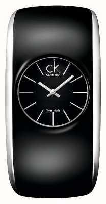 Calvin Klein 光泽女士全黑色手表 K6093101