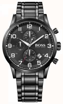 Hugo Boss 男士aeroliner黑色计时手表 1513180