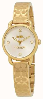 Coach 女士的黄金delancey手表 14502892