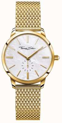 Thomas Sabo 女装华丽精神金色网眼手链白色表盘 WA0302-264-213-33