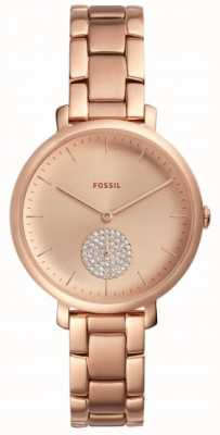 Fossil 女装jaqueline玫瑰金色调手链表简约表盘 ES4438