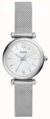 Fossil 女式carlie不锈钢网状珍珠贝母表盘 ES4432
