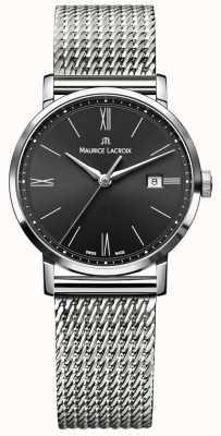 Maurice Lacroix 女装eliros milanais不锈钢表带黑色表盘 EL1084-SS002-313-1