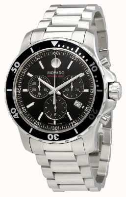 Movado 男士系列800计时码表不锈钢黑色表盘 2600142