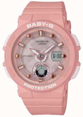 Casio Baby-g粉红色表带海滩旅行者 BGA-250-4AER