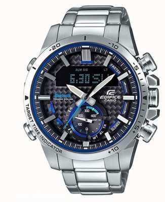 Casio 大厦蓝牙圈计时器不锈钢蓝色口音 ECB-800D-1AEF