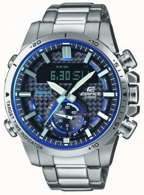 Casio 大厦蓝牙膝上计时器不锈钢蓝色口音 ECB-800D-1AEF