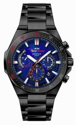 Casio Edifice toro rosso black ip镀蓝色表盘计时码表 EFR-563TR-2AER