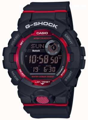 Casio G队黑色/红色数字蓝牙步跟踪器 GBD-800-1ER