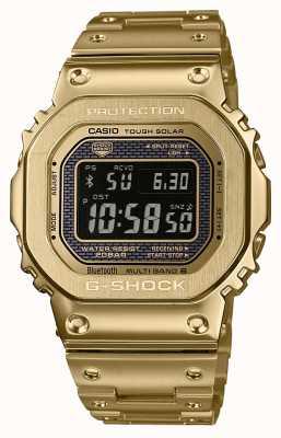 Casio Premium G-shock无线电控制蓝牙太阳能镀金钢 GMW-B5000GD-9ER