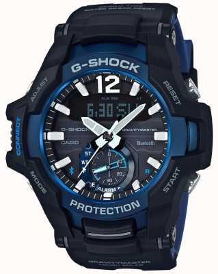 Casio G-shock gravitymaster蓝牙太阳能黑/蓝橡胶 GR-B100-1A2ER
