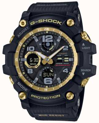 Casio G-shock无线电控制黑金色橡胶表带 GWG-100GB-1AER