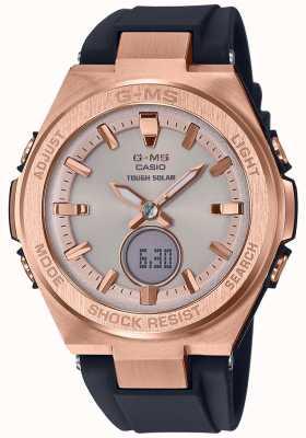 Casio G-ms baby-g玫瑰金坚韧太阳黑色表带 MSG-S200G-1AER