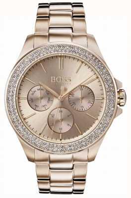 Hugo Boss 女装首映水晶镶金镀金手链 1502443