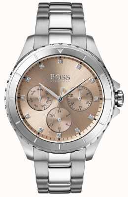 Boss 女装首映青铜表盘不锈钢表链 1502444