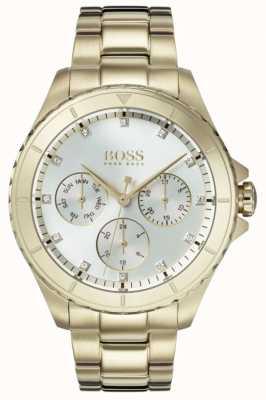 Hugo Boss 女装首映镀金表链银色表盘 1502445