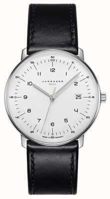 Junghans Max bill mega mf黑色皮革表带 058/4820.00