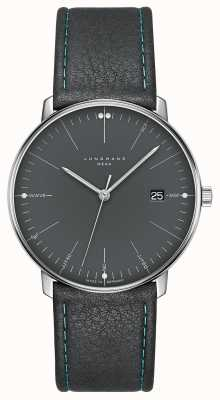 Junghans Max bill mega mf灰色皮革表带 058/4823.00