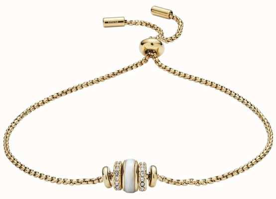 Fossil 女式金色贝壳珠手链 JF02956710