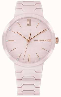 Tommy Hilfiger 女式粉红色陶瓷手链avery手表 1781957