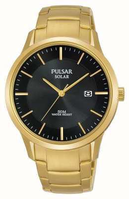 Pulsar 男士镀金太阳能日期表盘 PX3162X1