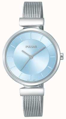 Pulsar 女士不锈钢表带浅蓝色表盘 PH8411X1