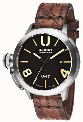 U-Boat Classico 47 as1自动黑色橡胶表带 8105