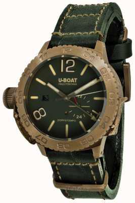 U-Boat Doppio Tempo 46 bronzo gr自动绿色皮革表带 9088