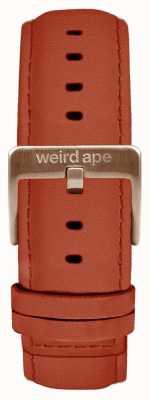 Weird Ape 锈色绒面革20毫米表带仅玫瑰金扣 ST01-000094