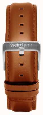 Weird Ape Tan皮革20mm表带银色搭扣 ST01-000100