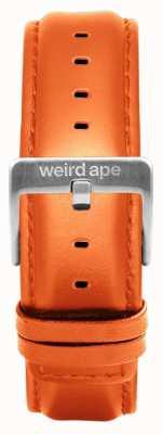 Weird Ape 橙色皮革20毫米表带银色搭扣 ST01-000111