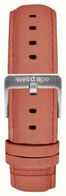 Weird Ape 玫瑰粉色绒面革16毫米表带银色搭扣 ST01-000052