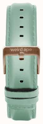 Weird Ape 薄荷绿色皮革16毫米表带玫瑰金搭扣 ST01-000042