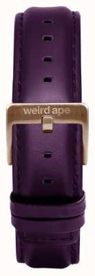 Weird Ape Purpleleather 16毫米表带玫瑰金搭扣 ST01-000036