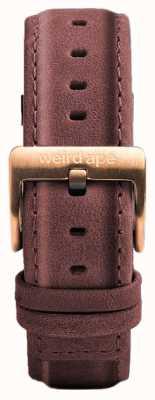 Weird Ape 粉红色皮革16毫米表带玫瑰金搭扣 ST01-000033