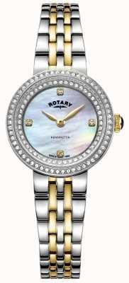 Rotary 女士肯辛顿|双色不锈钢手链| LB05371/41