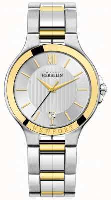 Michel Herbelin 男装newport royale双色银色和金色手链 12298/BT11