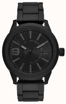 Diesel 男士全黑色锉手表金属手链 DZ1873