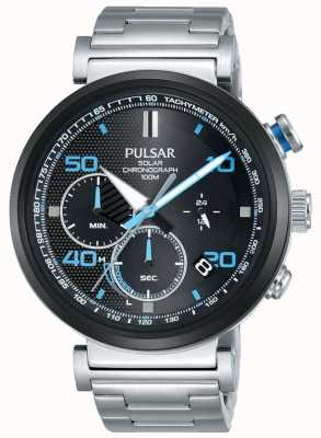 Pulsar 防爆显示屏-男士不锈钢太阳能计时手表 PZ5065X1-EX-DISPLAY