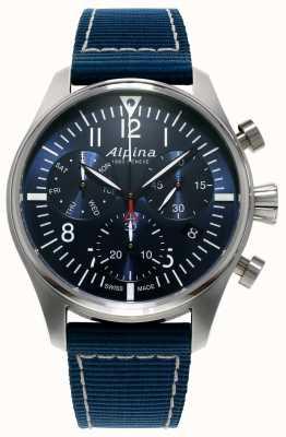 Alpina 男士startimer飞行员计时码表石英蓝 AL-371NN4S6