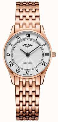 Rotary 女式超薄玫瑰金手链表 LB08304/01
