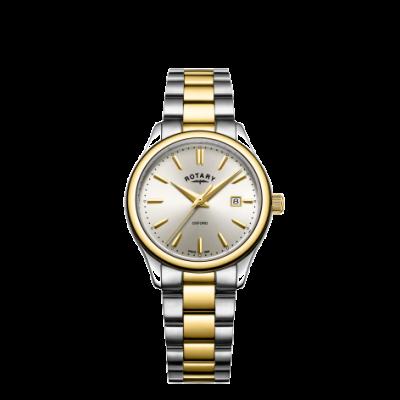 Rotary 女士牛津双色金银手镯表 LB05093/03